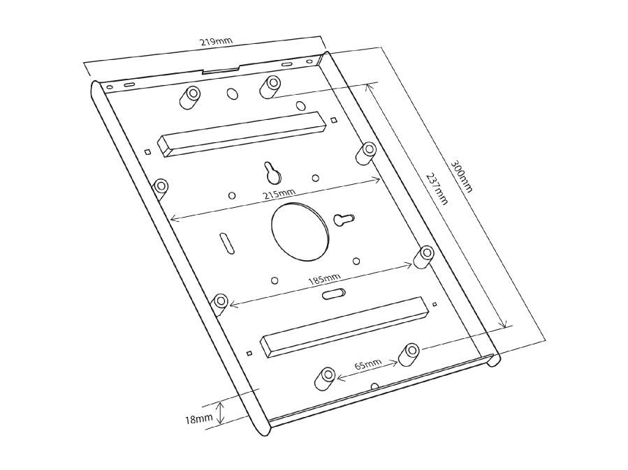 Vnitřní rozměry poličky / přihrádky na tablet Fiber Mounts MC676