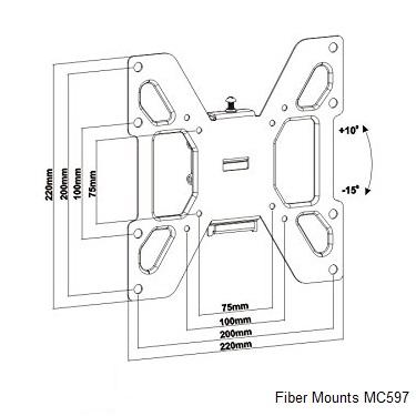 Držák Fiber Mounts MC597