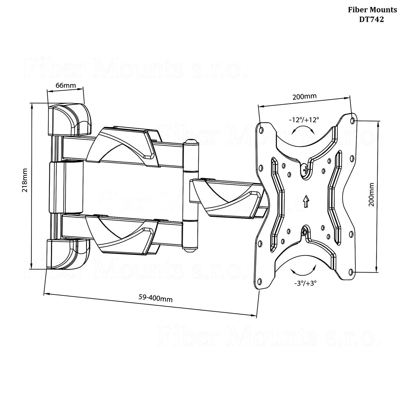 LCD držák Fiber Mounts DT742