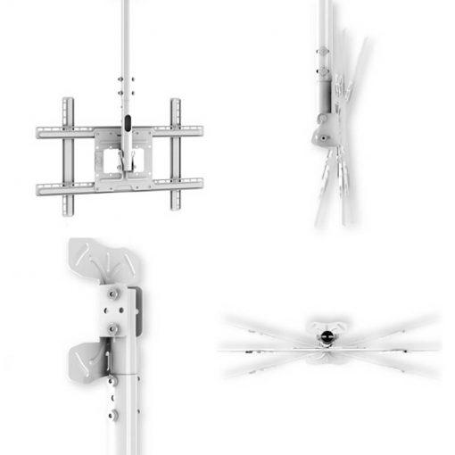 Bílý držák pro zavěšení televize na strop Fiber Mounts T560W