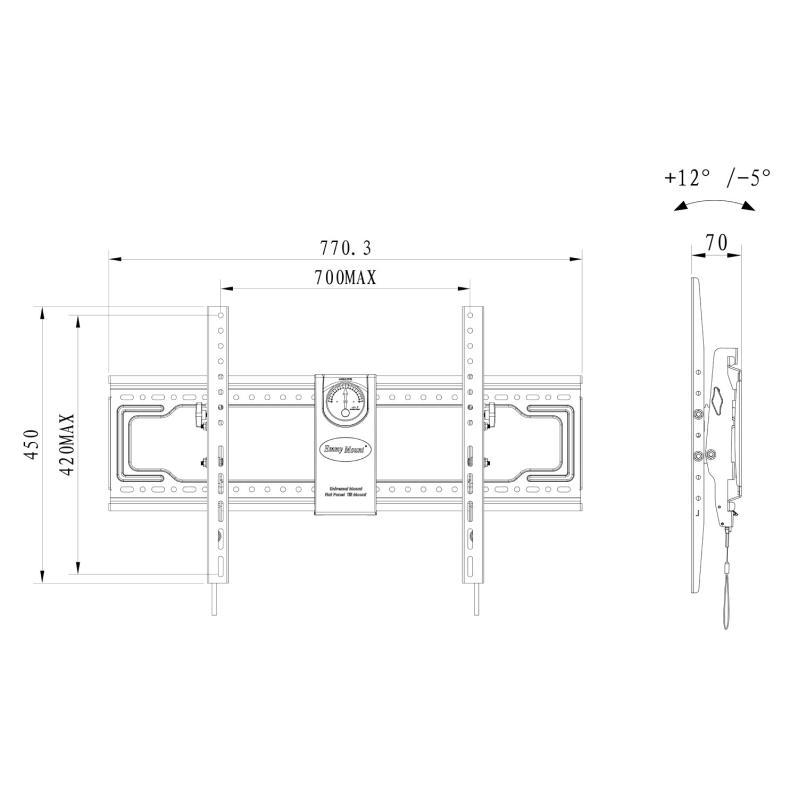 Profesionální nástěnný stojan / držák na televizi nebo monitor - Fiber Novelty DF80T