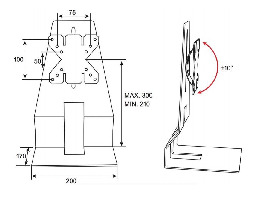 Stolní podstavec pro uchycení menších televizorů, monitorů, dotykových obrazovek nebo All in One PC. Možnost nastavení výšky a náklonu obrazovky. Ideální na obrazovky s úhlopříčkou 13-27 palců, maximální zatížení 5kg. Stabilní a bezpečný, pevná konstrukce. Barevné provedení černé. Záruka 5 let. - OMB TableLift