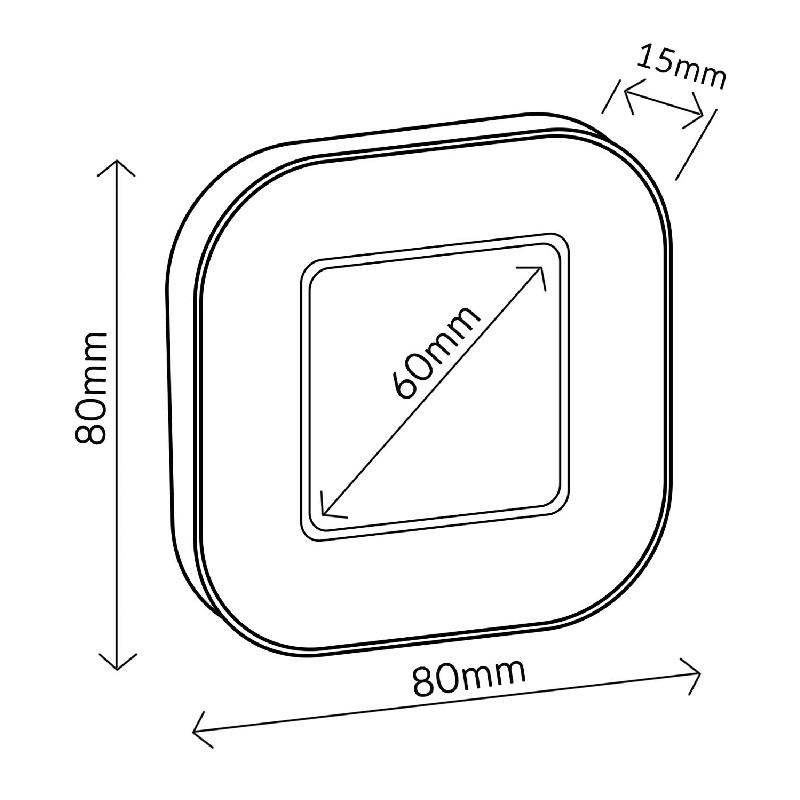 Minutka do kuchyně, digitální, dotyková, magnetická Fiber Mounts Minutka