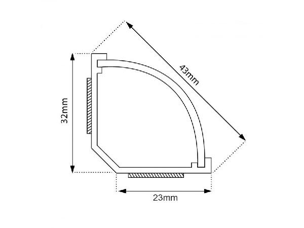 Rohová nalepovací lišta na kabeláž v délce 150 cm - Fiber Mounts M5C75