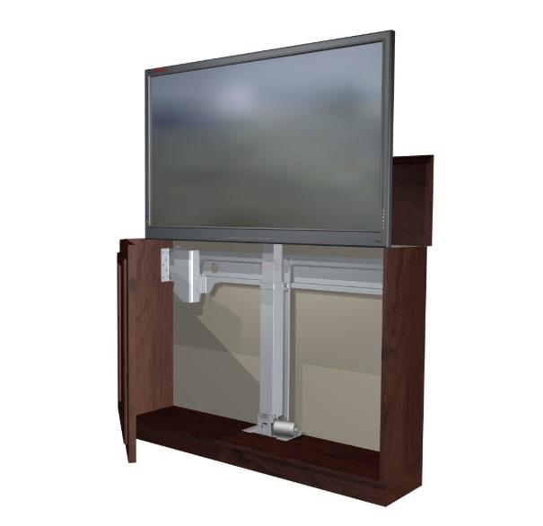 Nábytkový stojan na LCD LED OLED QLED televize pro ukrytí do nábytku a stylové vyjetí Tv - Fiber Mounts FM-K5