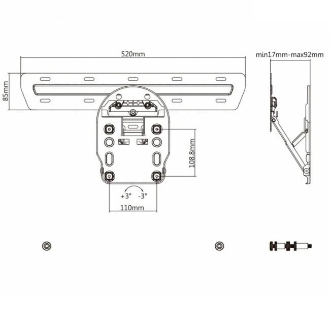 Držák pro QLED na stěnu, sklopný - Mounts AX806