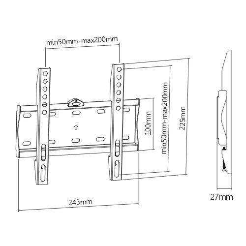 Fixní držák pro pevné a spolehlivé zavěšení televize nebo monitoru na stěnu - Fiber Mounts FM21F