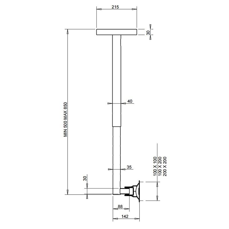 Otočný a sklopný držák na monitor nebo Tv OMB Hisolution