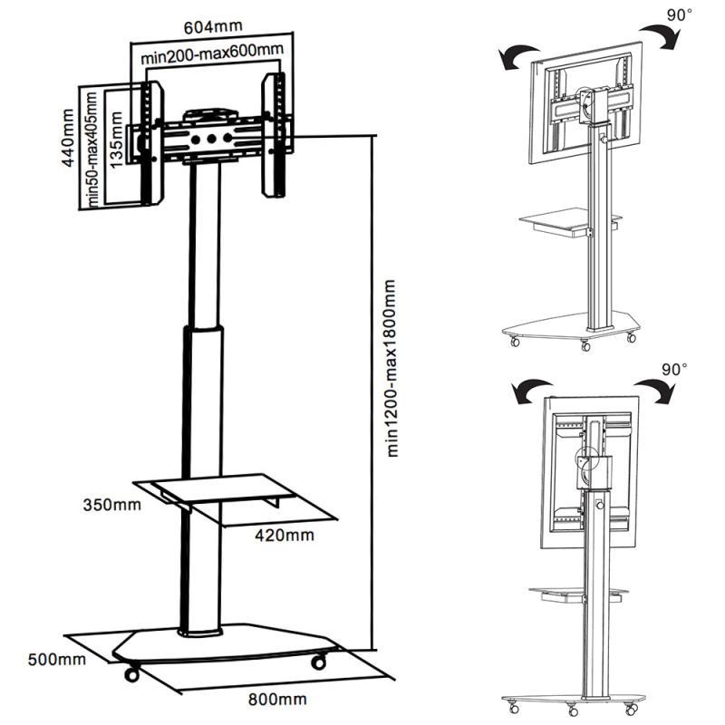 Stojan na televizi / televizní stolek - Fiber Novelty FN01