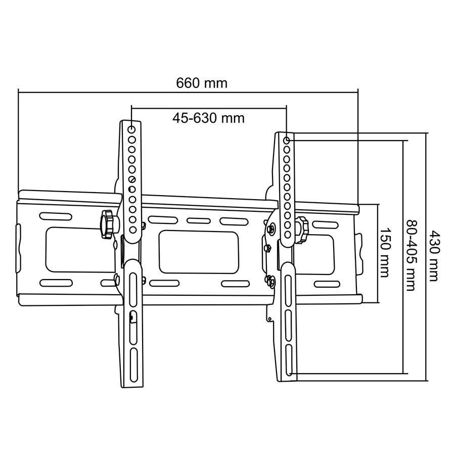 Televizní nástěnný držák s náklonem Fiber Mounts M5C65