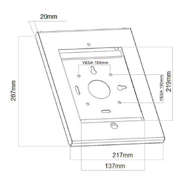 Fiber Mounts M6C10 polička na tablety iPady, uzamykatelná, celokovová
