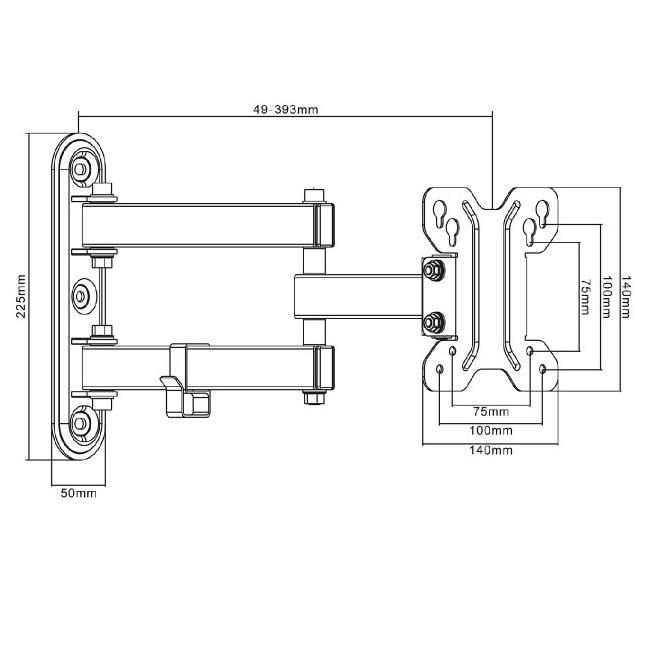 Monitorový držák Fiber Mounts M7C4 je levný, přesto kvalitní a spolehlivý nástěnný držák