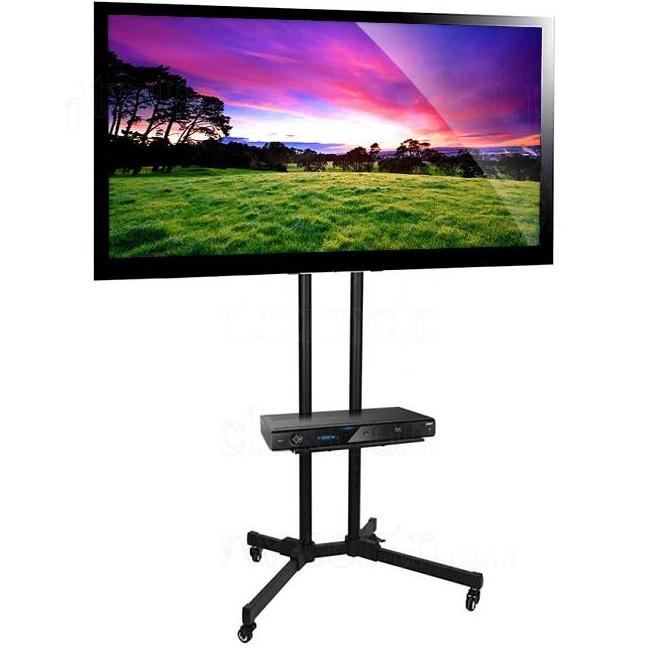 """Stojan na LCD LED Tv Fiber Mounts MC661 (Kvalitní mobilní stojan s nastavitelnou výškou, policí na příslušenství a poličkou na kameru, pro LCD a LED TV do 65"""")"""
