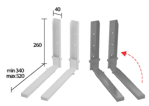 držák na mikrovlnku OMB Micro